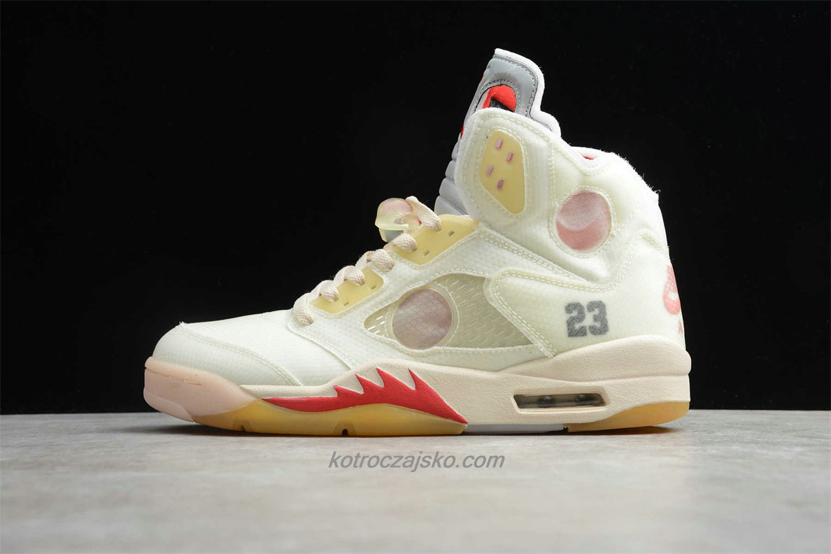 Jordan 5 Retro SP Beige / Khaki / Rød Basketball Sko (CT8480 002)