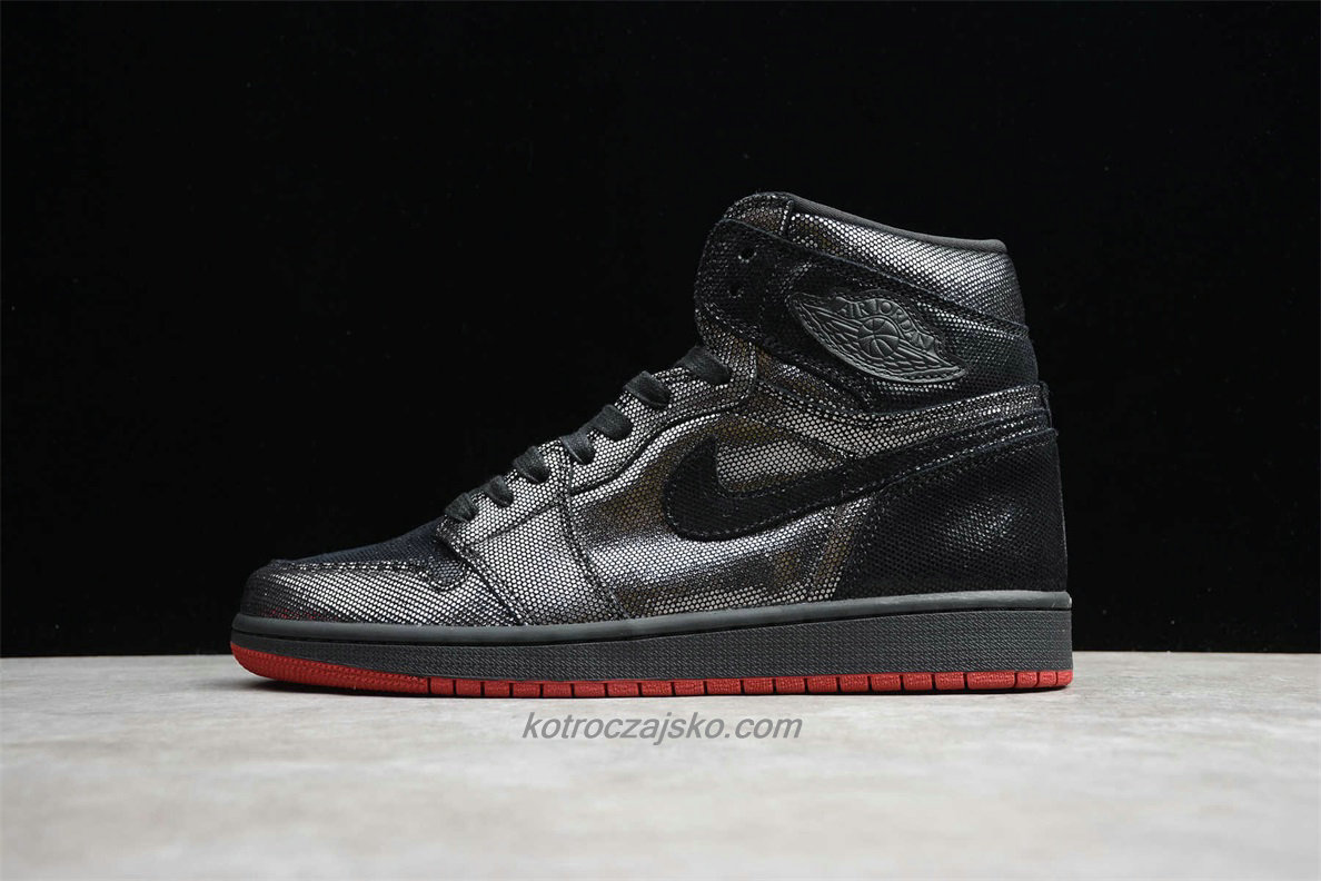 Jordan 1 High OG SP Herre Svart/Sølv Basketball Sko (CD7071 001)
